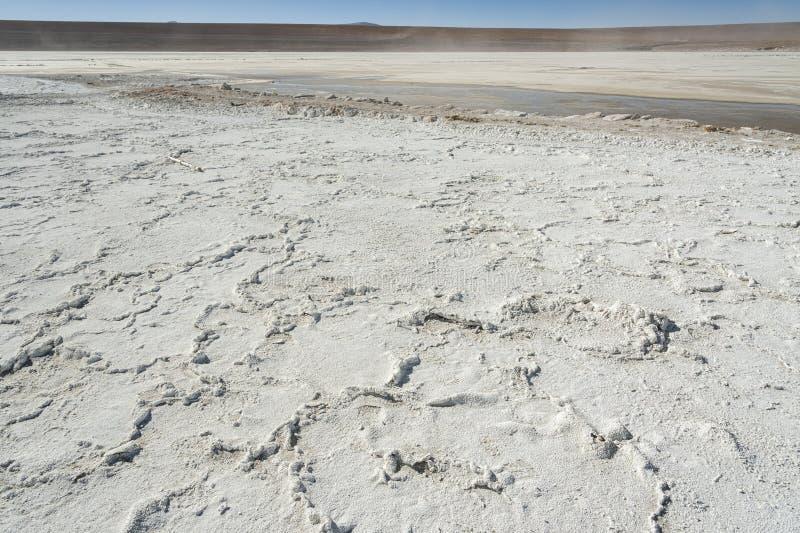 Salar de Chalviri, also known as Salar de Ohalviri, is a salt flat in the heart of Eduardo Avaroa Andean Fauna National Reserve. In the Potosí Department stock photography