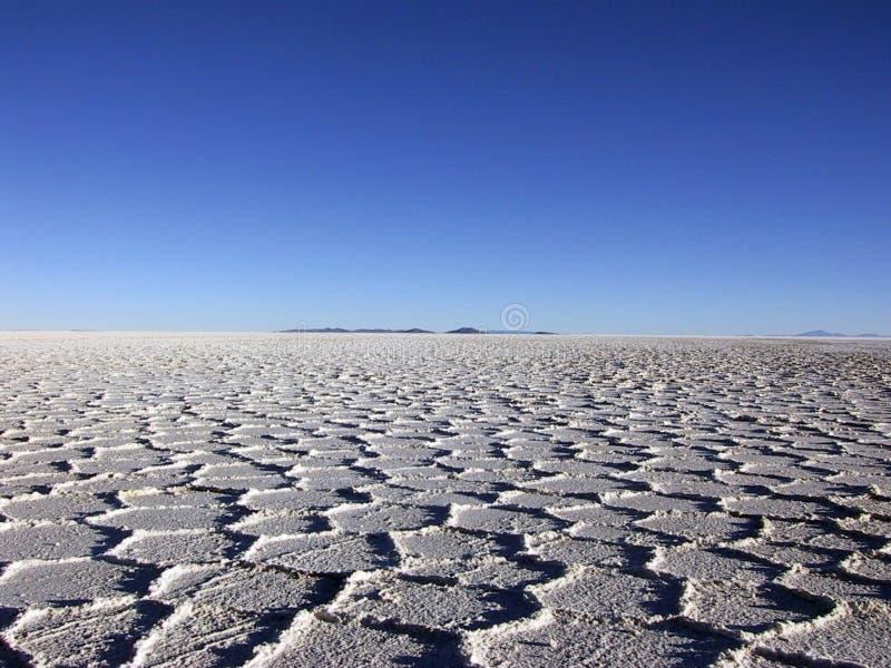 Salar de Ujuni, Bolivien Ende des Nachmittages lizenzfreie stockbilder