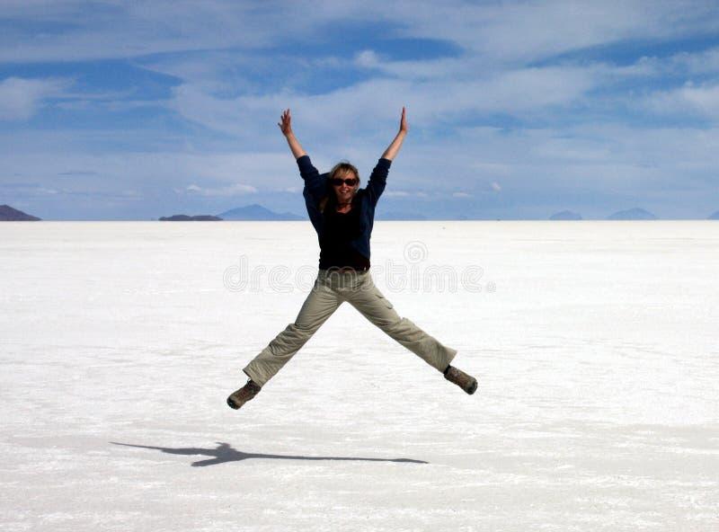 Salar de Uyuni. Reaching Salar de Uyuni, Bolivia royalty free stock images