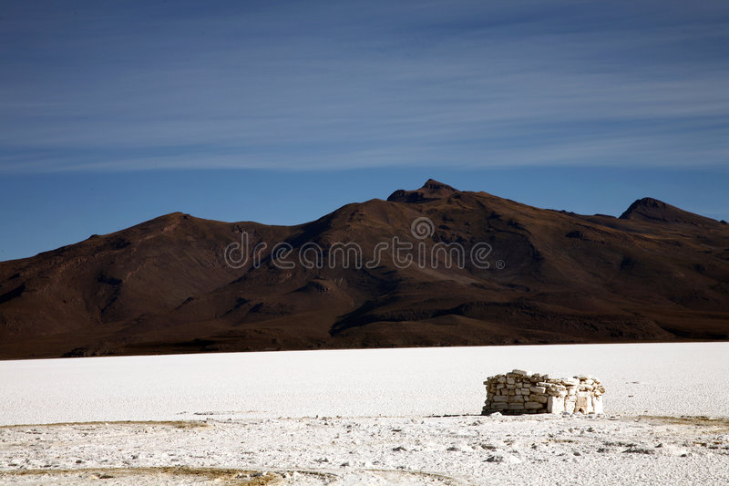 Salar de Uyuni, Bolívia fotografia de stock