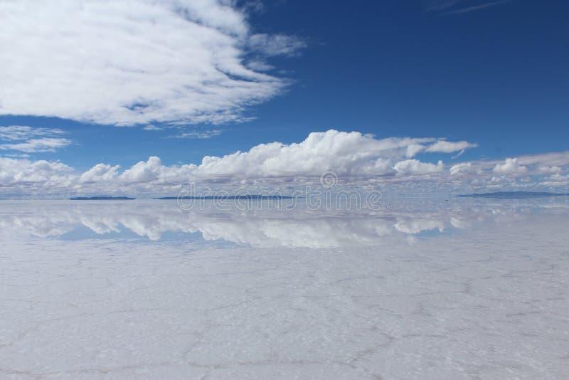 Salar de Uyuni, Bolivia. The amazing saltflats Salar de Uyuni in Bolivia stock photography