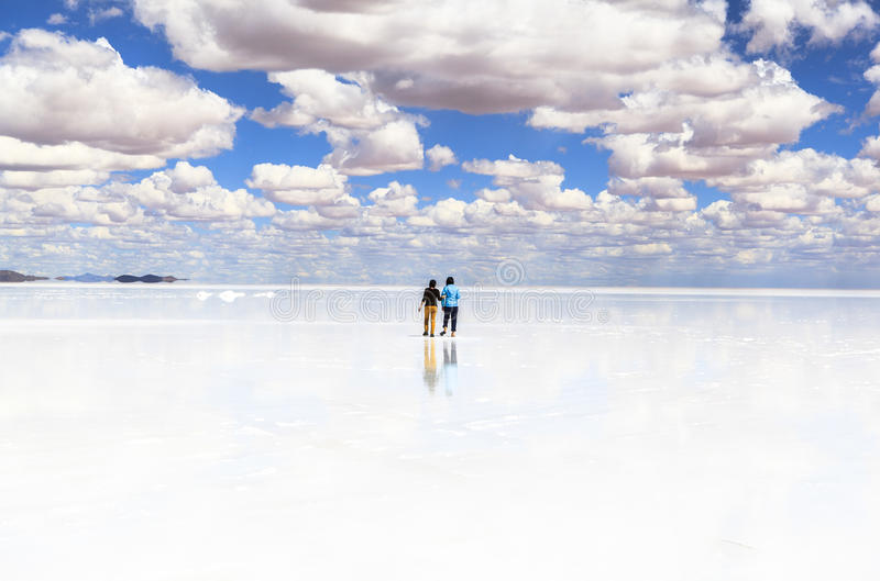 Salar de Uyuni, Bolivia. This photo was taken in Salar de Uyuni, Bolivia. Salar de Uyuni (or Salar de Tunupa) is the world's largest salt flat at 10, 582 square royalty free stock images