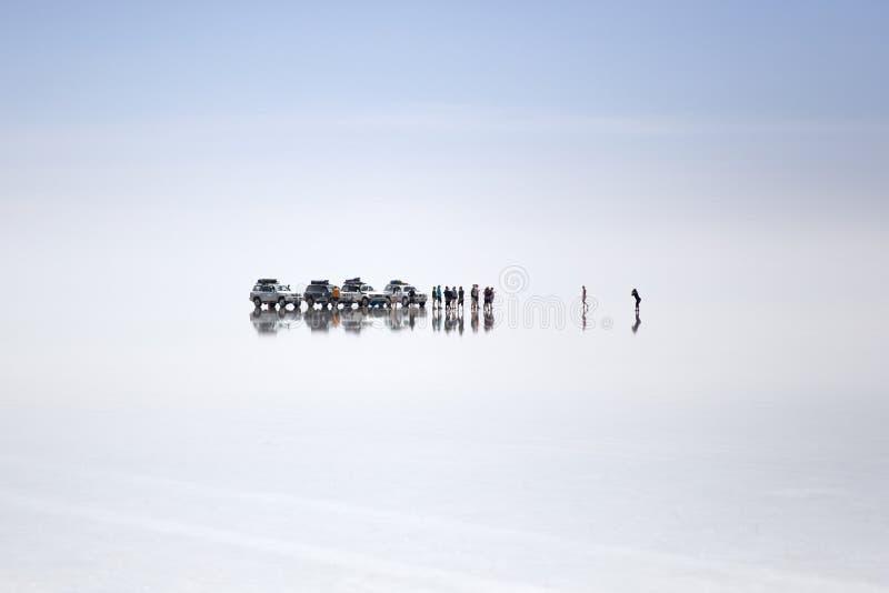 Salar de Uyuni em Bolívia imagem de stock