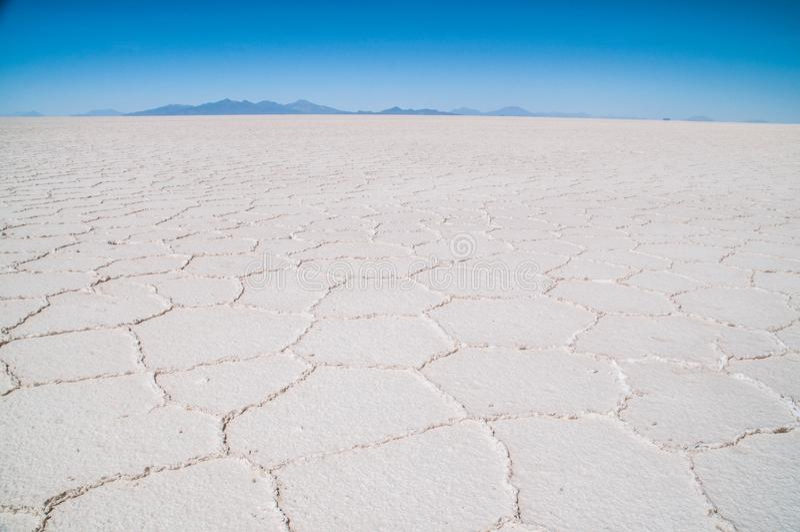 Salar de Uyuni em Bolívia imagens de stock