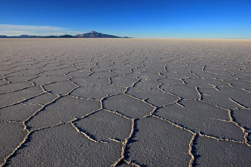Salar de Uyuni, lago de sal, Bolívia fotos de stock royalty free