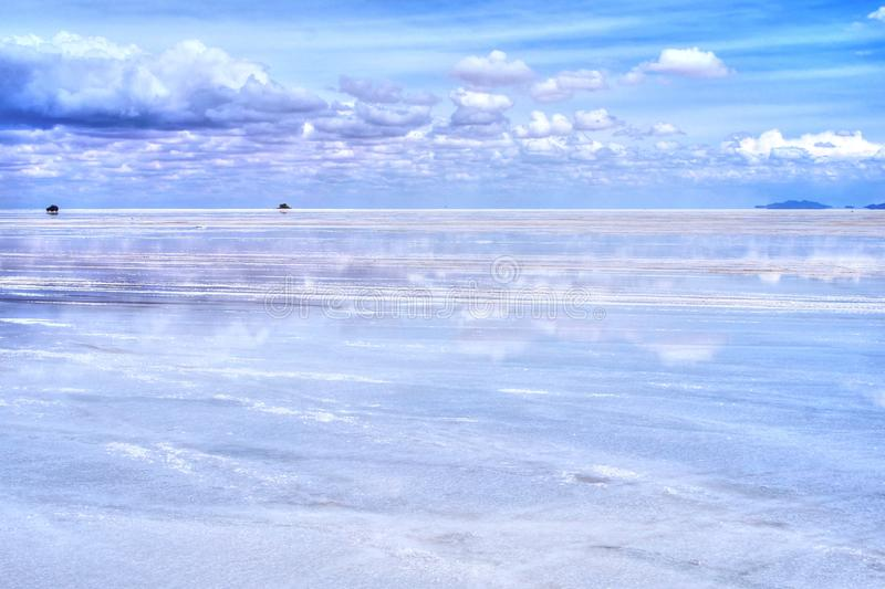 Salar de Uyuni reflection of blue sky royalty free stock images