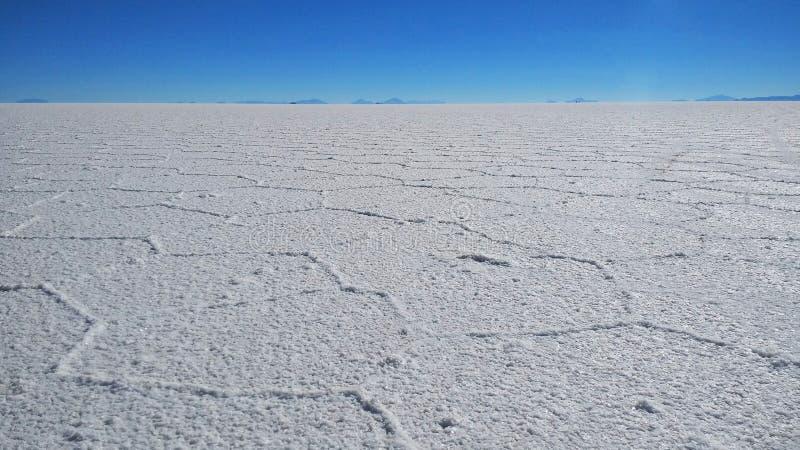 Salar de Uyuni, più grande sale piano immagine stock libera da diritti