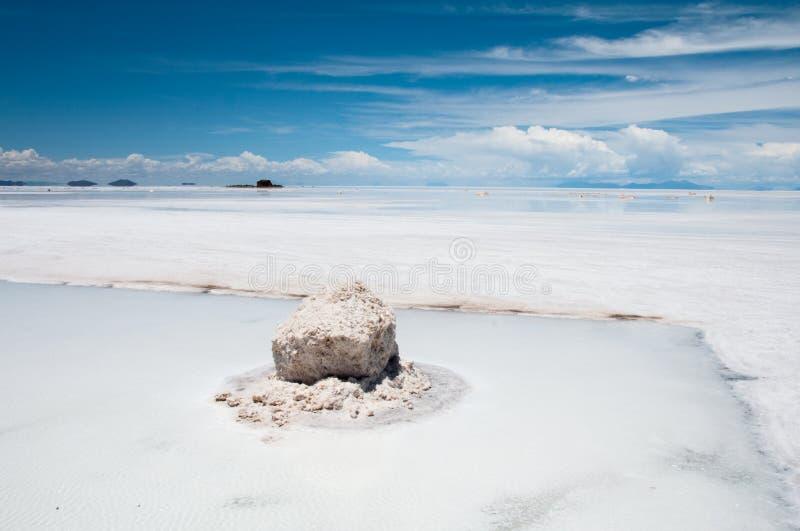 Salar de Uyuni, salga o plano (Bolívia) imagem de stock
