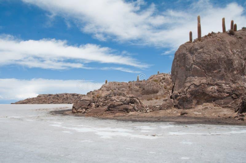 Salar de Uyuni, salga o plano (Bolívia) fotografia de stock royalty free