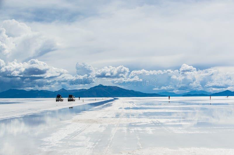 Salar de Uyuni sin fin imagen de archivo