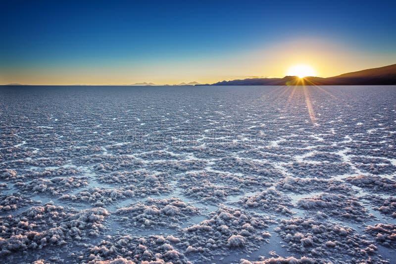 Salar De Uyuni Uyuni soli mieszkania przy zmierzchem, Potosi, Boliwia Ameryka Południowa obraz stock