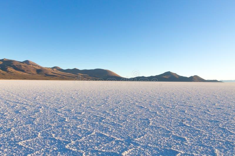 Salar de Uyuni, vista di Cerro Tunupa fotografia stock