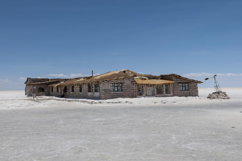 Salar DE Uyuni - zout hotel stock afbeelding