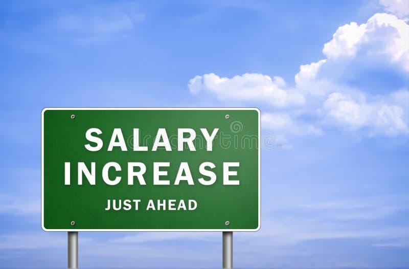 Salarisverhoging vector illustratie