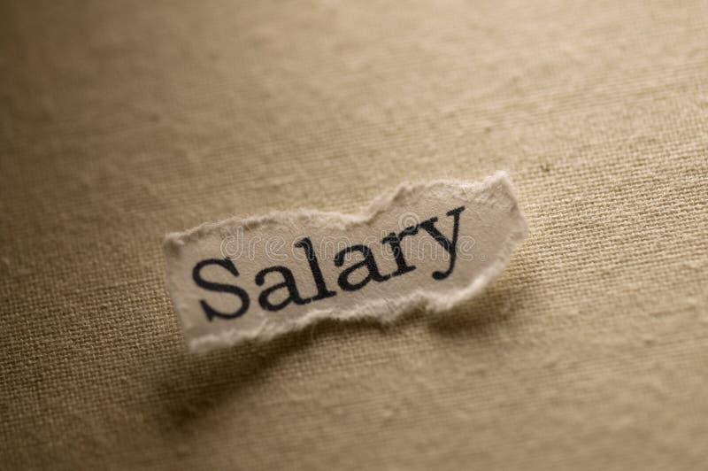 Salary stock photography