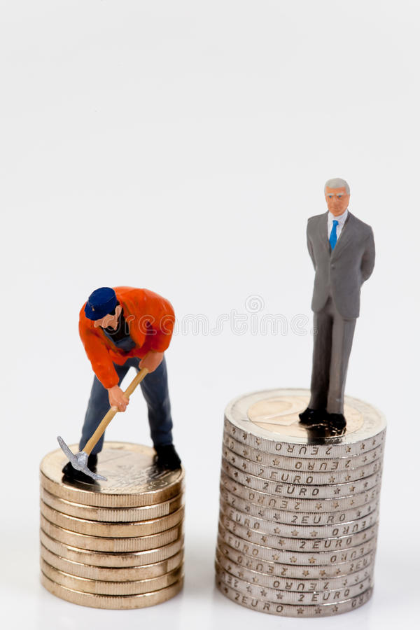 Free Salary Difference Between Workers And Managers Stock Image - 9916531