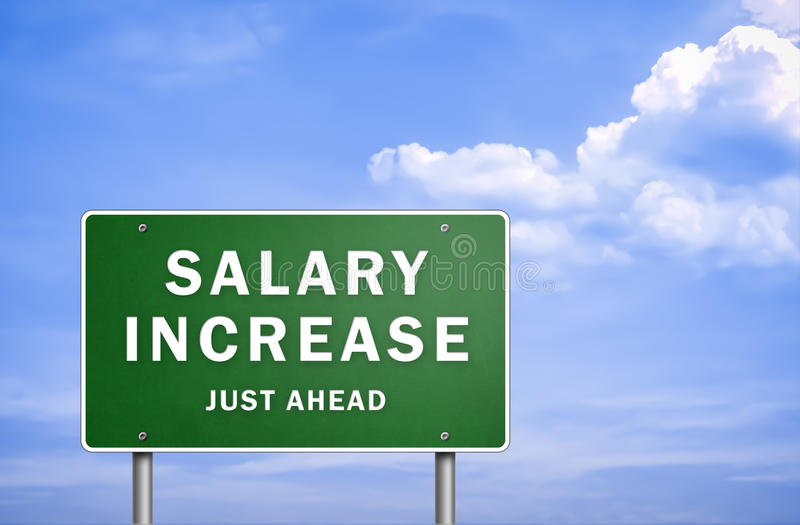 Salary increase vector illustration