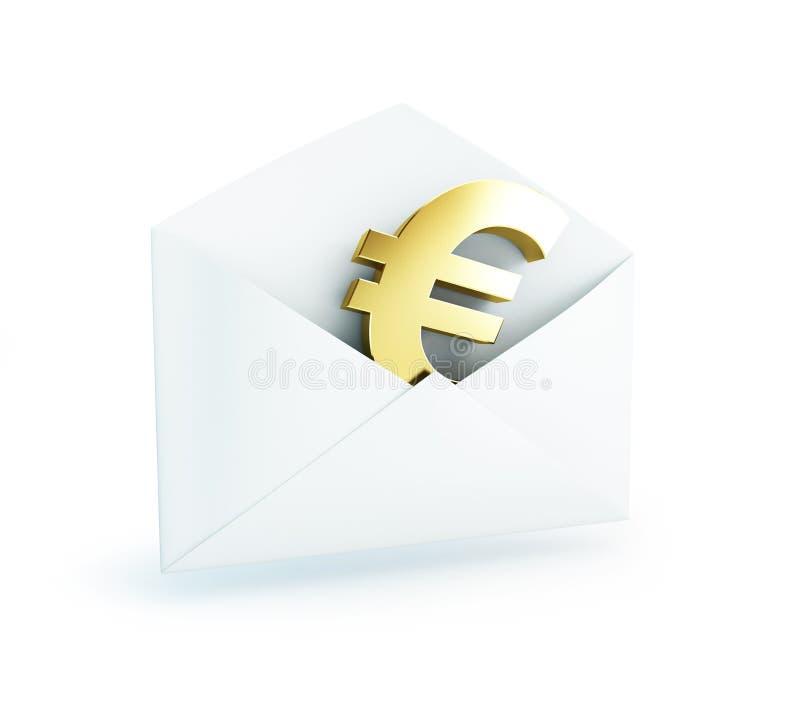 Download Salary mail euro stock illustration. Image of bribe, envelope - 28510446