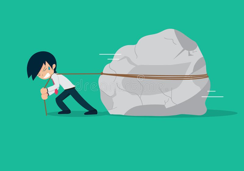 Salary Man 01 Big Problem. When you do not have a business plan, you will have big problem , issue, trouble on your way vector illustration