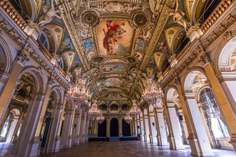 Salas de recepción del ayuntamiento, París, Francia imágenes de archivo libres de regalías