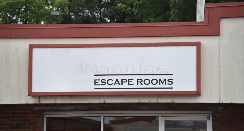 Salas do escape e do desafio imagem de stock