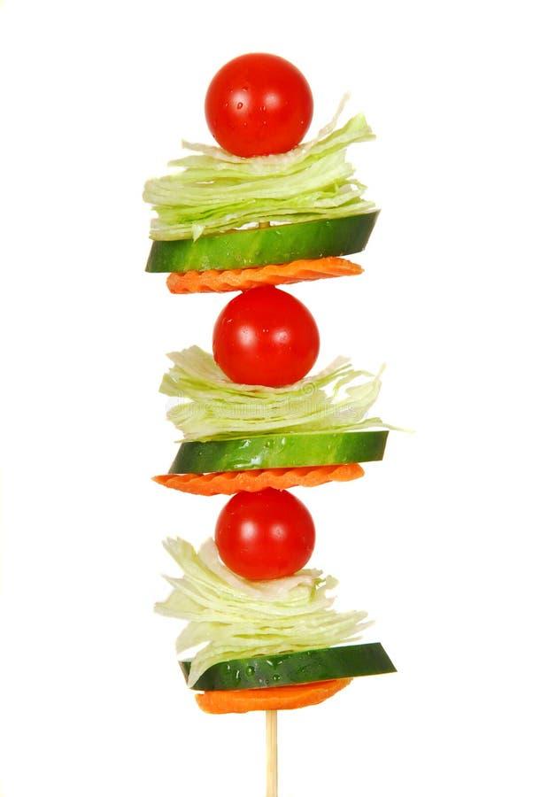 Salat auf einem Steuerknüppel stockfotografie