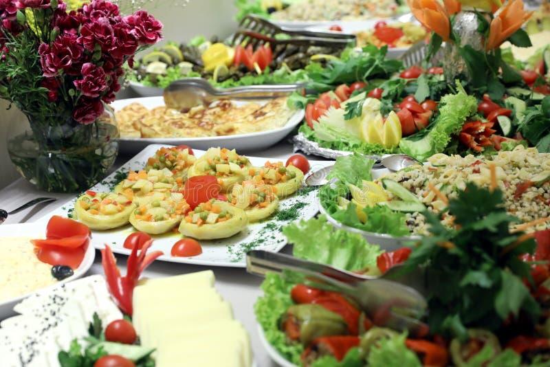 Salat-Buffet stockbild