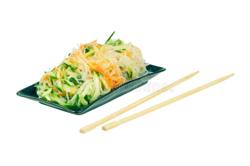 Salat-Chinese-Küche stockfoto