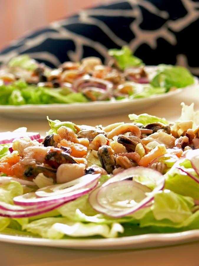 Salat de fruits de mer photo libre de droits