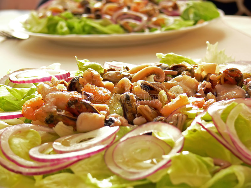 Salat de fruits de mer image libre de droits