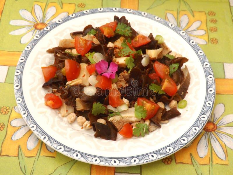 Salat der Pilze lizenzfreie stockbilder
