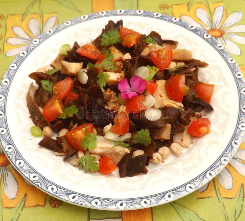 Salat der Pilze lizenzfreies stockbild