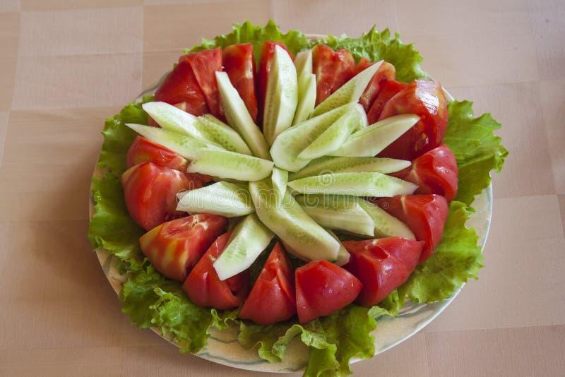 Salat-Gurken-Stern lizenzfreies stockfoto