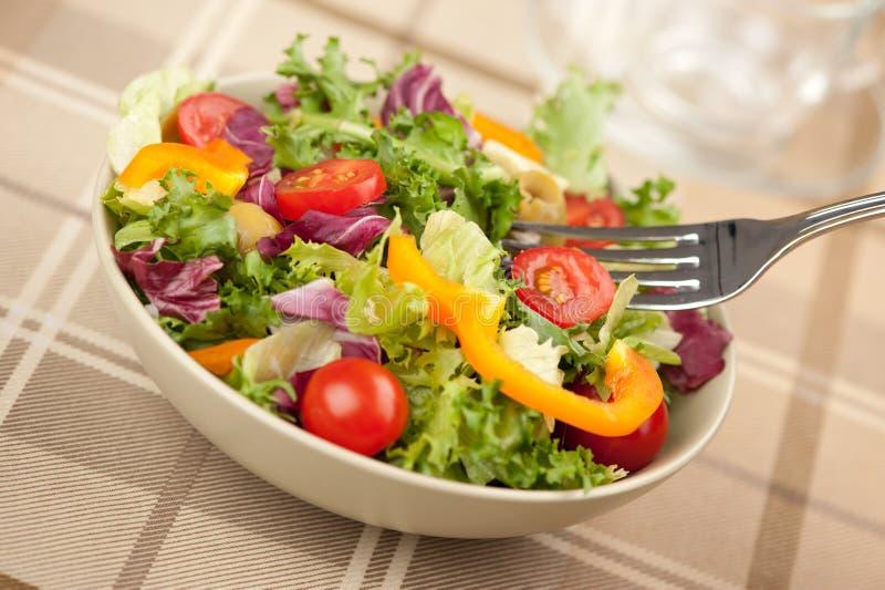 Salat mit Gemüse lizenzfreie stockfotografie