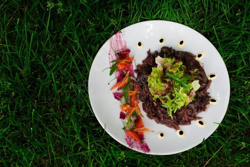 Salat mit Kohl stockfoto