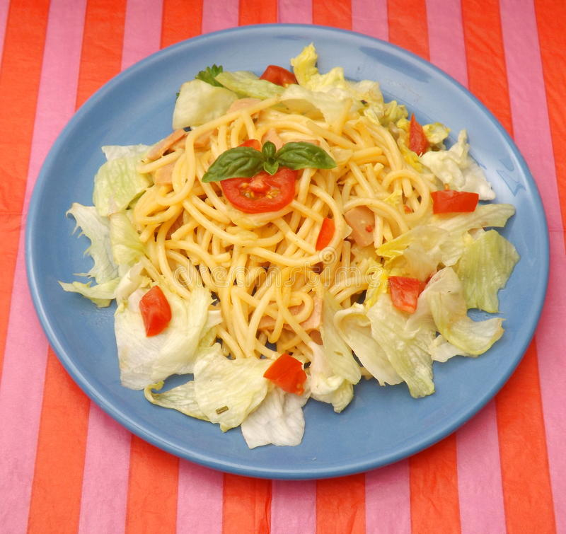 Salat mit Teigwaren lizenzfreies stockbild