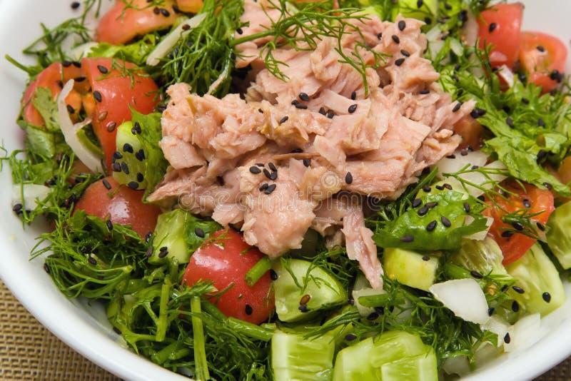 Salat mit Thunfisch stockbilder