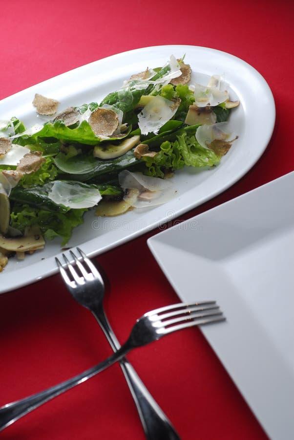 Salat mit Trüffeln lizenzfreies stockbild