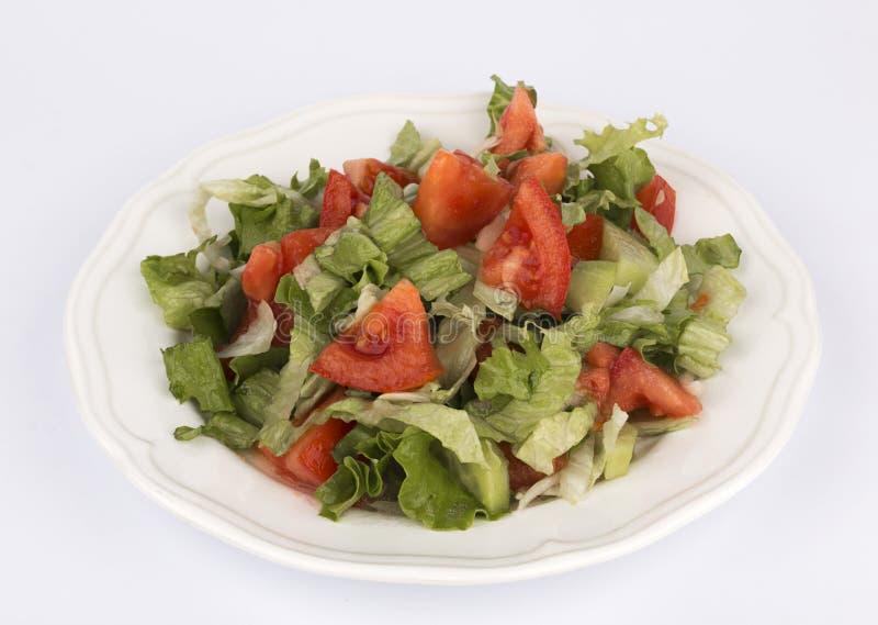 Salat Schließen Sie herauf Schuß Frühlingsgemüsesalat stockfoto