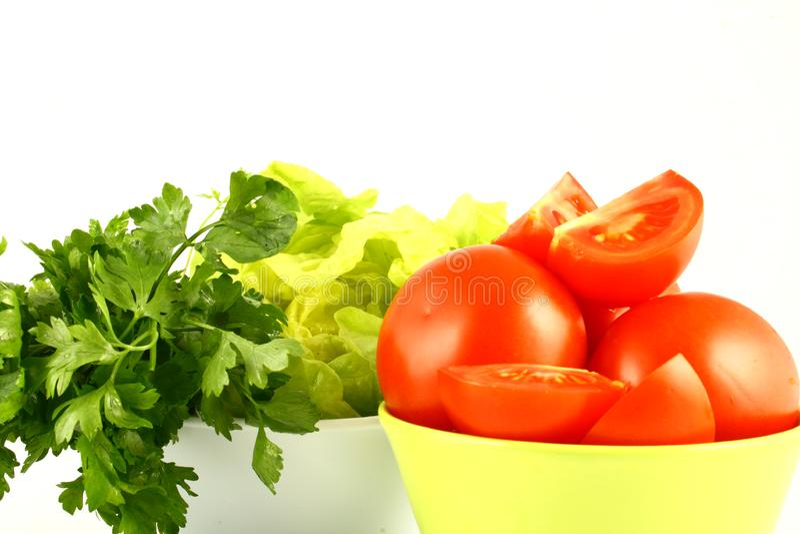 Salat tomato royalty free stock photos
