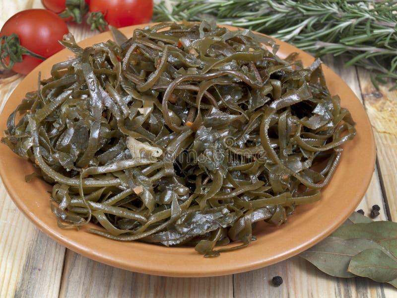 Salat vom Seekohl stockfoto