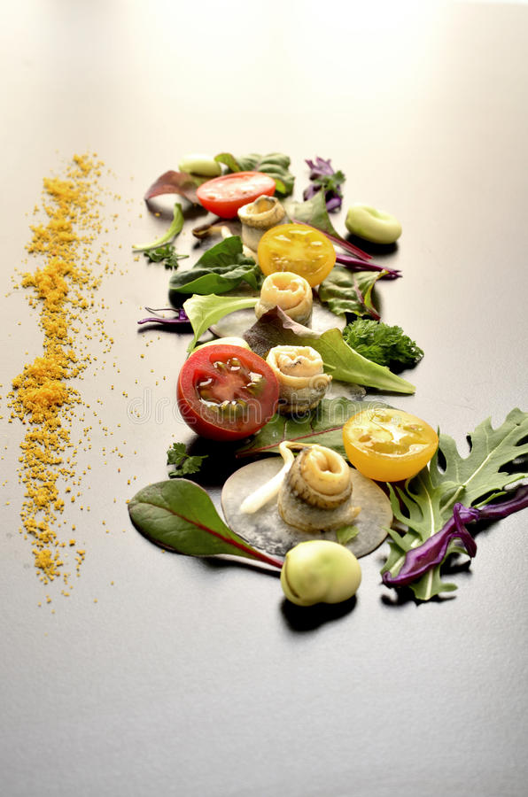 Salatkunst stockfotografie