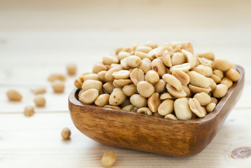 Salato, arrostito, arachidi fotografia stock libera da diritti