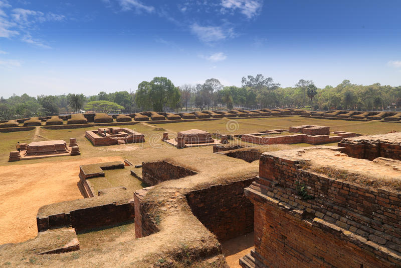 Salban vihara废墟 免版税图库摄影