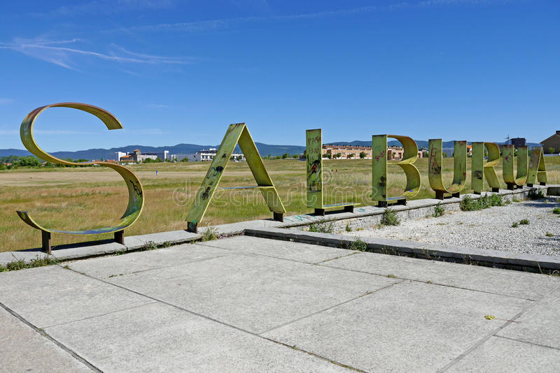 Salburua-Park, Vitoria-Gasteiz spanien stockbilder
