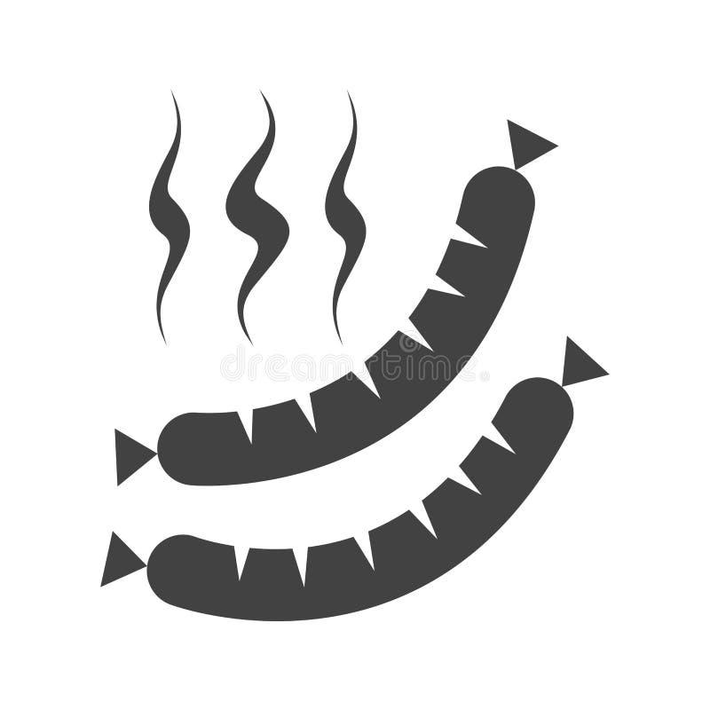 Salchicha caliente stock de ilustración
