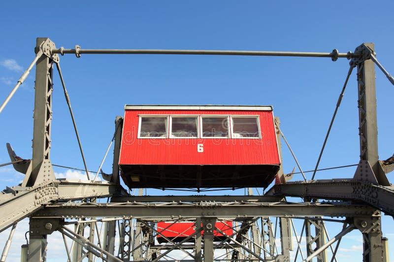 Salchicha de Francfort Riesenrad (rueda gigante de Viena Ferris) foto de archivo