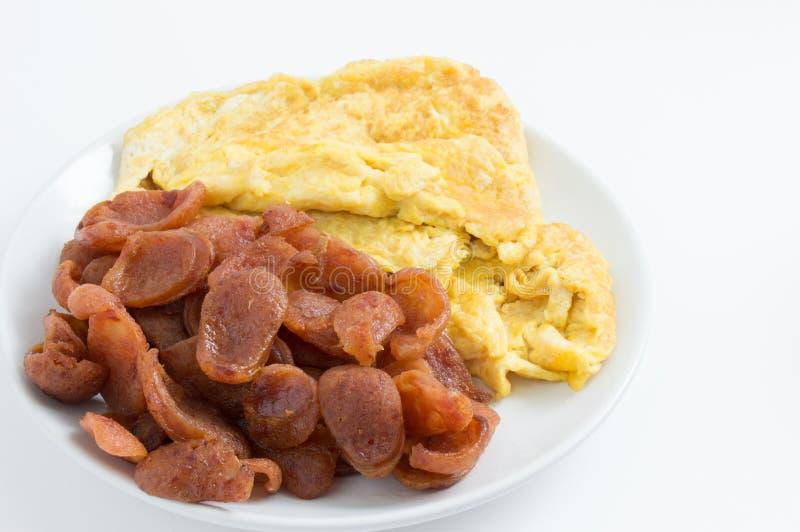 Download Salchicha Y Tortilla Chinas Imagen de archivo - Imagen de almuerzo, omelet: 41917439