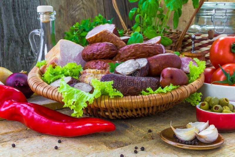 Download Salchichas De Las Carnes De Variedad De La Composición Imagen de archivo - Imagen de groceries, cesta: 44853909