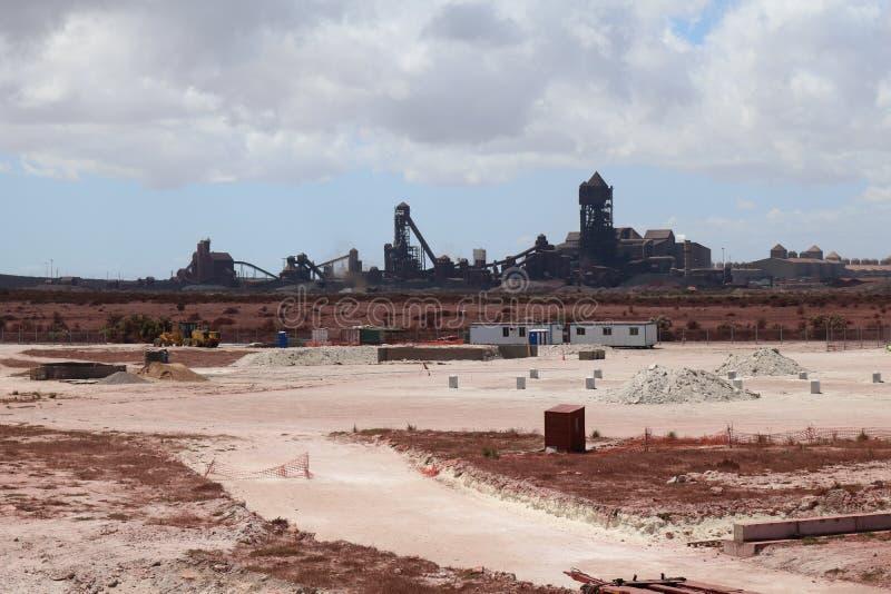 Saldanha钢铁厂,西开普省,南非 免版税库存照片